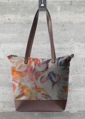 VIDA Statement Bag - Floral Trellis on Navy by VIDA atTIcV7