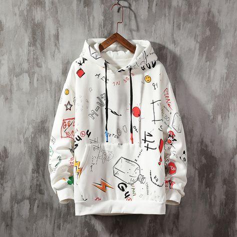 men sweatshirts slim fit casual Print Hoodie SF – loveitbabe
