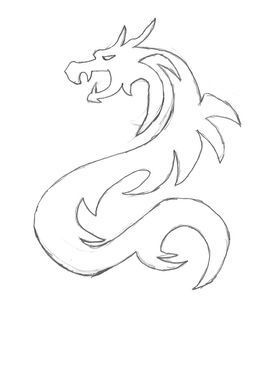 Zeichne Chinesische Drachen Wie Zeichnet Man Einen Chinesischen Chibi Drachen Schritt Fur Schritt Dragon Sketch Chinese Dragon Drawing Simple Dragon Drawing
