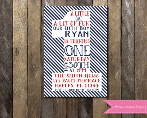 PRINTABLE Nautical First Birthday By PinkStarfishDesigns On Etsy 1300