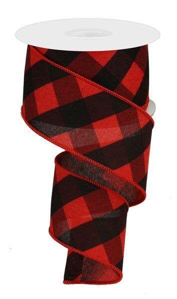 2.5 x 10 yards Black Ribbon Candy Christmas Wired Edge Ribbon
