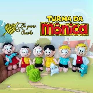 Turma Da Monica Amigurumi 29965 Com Imagens Turma Da Monica