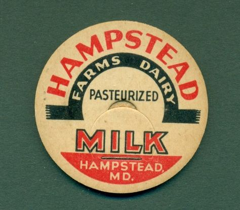Lot Of 50 Hampstead Farms Dairy Hampstead Md 1 5 8 Milk Caps Dairy Milk Cap