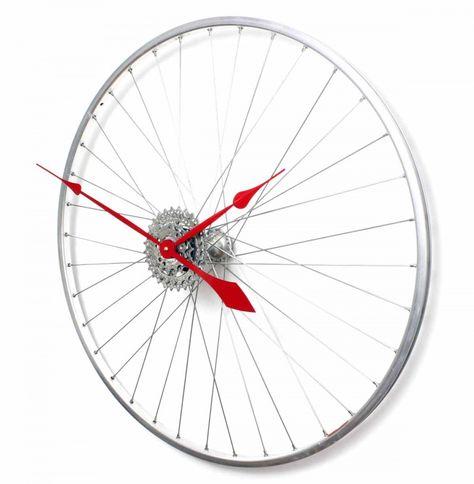Bicycle Wheel Clock - Tread & Pedals