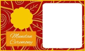 Mundan Invitations Ev Mun A06 Inv Psd Invitation Mundan Personalised Invitations Cards Paper Texture