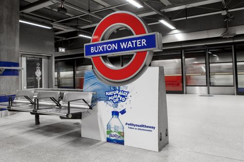 Buxton Water became the first brand to take over a tube station on Sunday 26th April when Canada Water station was renamed after Buxton Water for the day in an effort to drive awareness of the brand and promote its role as official water provider of the Virgin Money London Marathon.