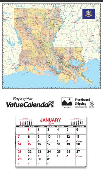 Ohio State Map Calendar   X  Commercial Apron Wall