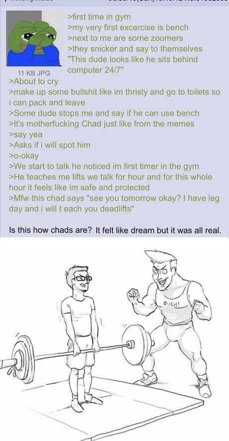 Not Every Chad Is A Douchebag Memes Funny Excercise
