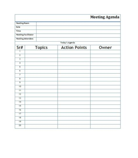 meeting agendas templates Meeting Agenda Template Download Page - agenda templates for meetings