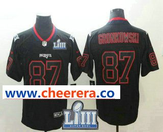 49d89f35 Men's New England Patriots #87 Rob Gronkowski 2019 Super Bowl LIII ...