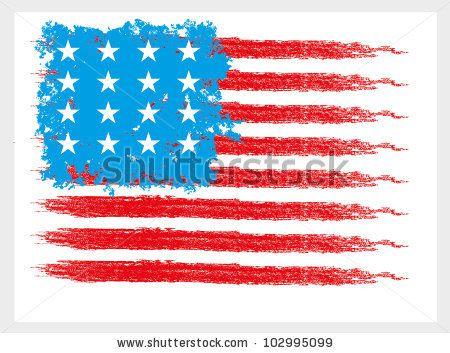 American Flag Vector Vectorart College Usa Flag America