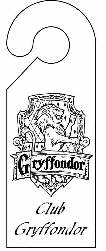 Pancarte De Porte Gryffondor Decoupage A Imprimer Art Harry