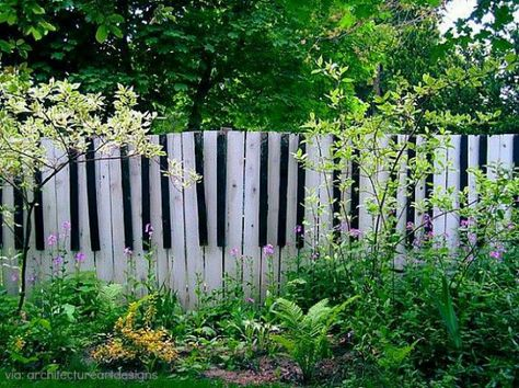 Piano Keyboard Painted Fence