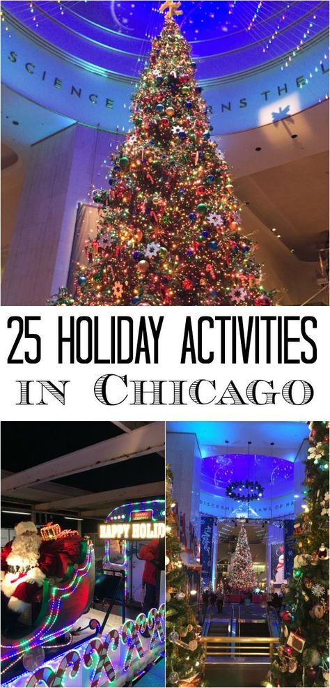25 Holiday Activities in Chicago -  Chicago is a wonderful city for holiday and Christmas activities. This post includes 25 holiday-inspired events, from performances, to ice skating, to a gingerbread house decorating party - one for each day of December until Christmas is here. | Chicago Jogger