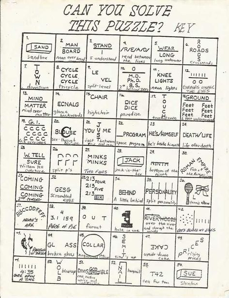 Hard Rebus Puzzles Worksheet - Can You Figure Out 33 Super Hard Rebus Puzzle Brain Teasers Brain Teaser How Many Of These Can You Guess Barnmice Dynamite Hard Rebus Puzzles With Ans. Printable Brain Teasers, Brain Teasers Riddles, Brain Teasers With Answers, Brain Teasers For Kids, Brain Teaser Games, Brain Teaser Puzzles, Brain Games, Picture Puzzles Brain Teasers, Rebus Puzzles