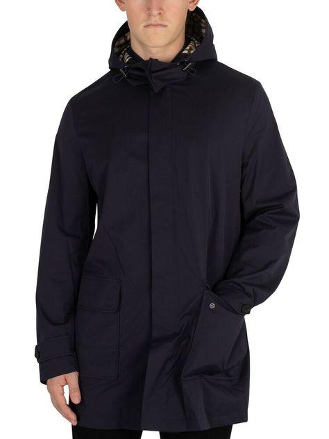 Aquascutum Jacket Mens casual Douglas Padded Hooded Blouson Black