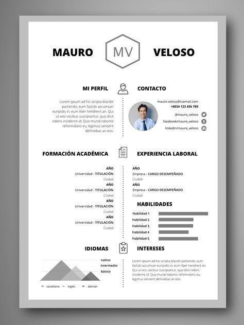 Trabajo Resume Design Creative Resume Words Resume Design