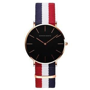 Simple Watch Leather Strap Nylon Clock Women Analog Waterproof Wristwatch