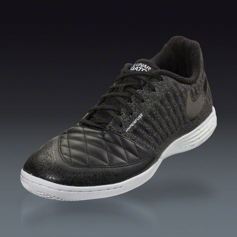 1f31437d1d4 Buy Nike Lunar Gato II - Black Black White Poison Green Indoor Soccer Shoes  on SOCCER.COM. Best Price Guaranteed. Shop for all your soccer equipment  and ...