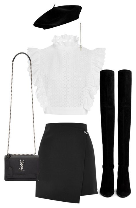 Philosophy di Lorenzo Serafini, Topshop, Stuart Weitzman and Yves Saint Laurent Cute Casual Outfits, Girly Outfits, Mode Outfits, Stylish Outfits, Kpop Fashion Outfits, Stage Outfits, Korean Outfits, Fashion Clothes, Look Fashion