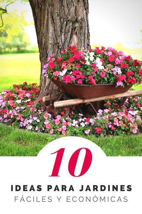 Ideas Faciles Y Economicas Para Decorar Jardines Decoracion De Jardines Con Poco Dinero 1 Front Yard Landscaping Design Landscaping Around Trees Garden Decor