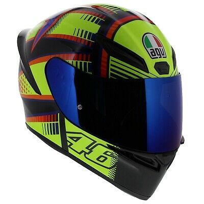 Agv K1 Soleluna 2015 Valentino Rossi Motorcycle Helmet Free Shipping Free Visor Ebay Valentino Rossi Parts And Accessories Helmet