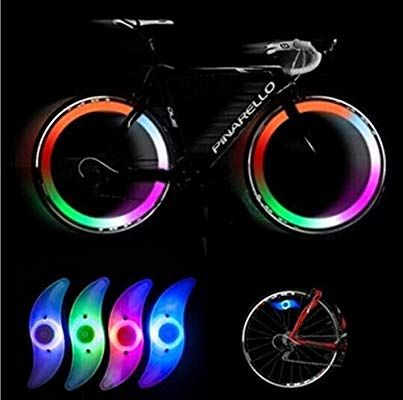 Colorful Bike Bicycle Cycling Spoke Wire Tire Rim Wheel LED Bright Light Lamp *