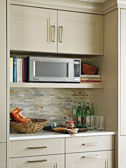 32 Trendy Kitchen Open Wall Cupboards Built In Microwave Cabinet