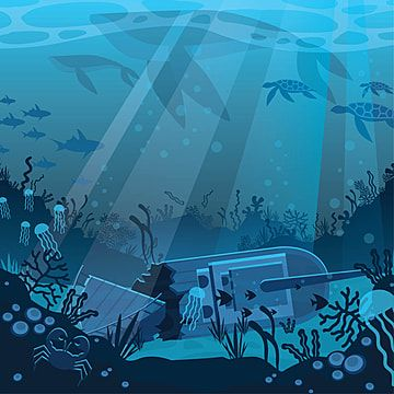 Flat Underwater Illustration Under The Sea Clipart Illustration Underwater Png And Vector With Transparent Background For Free Download In 2021 Under The Sea Clipart Ocean Illustration Underwater Background