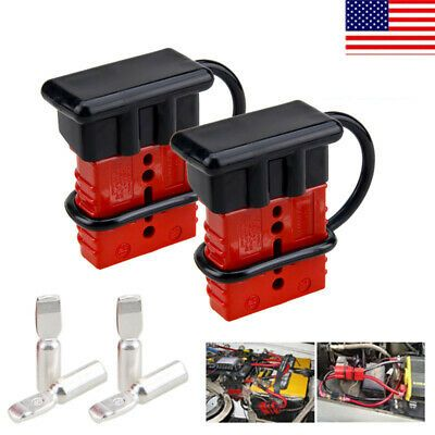2pcs 175A Quick Battery Connector Winch Trailer Battery Connect Disconnect Plug