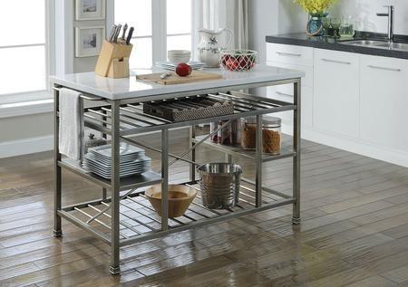 Acme Furniture 98402 666 99 In 2021 Kitchen Marble Metal Kitchen Island Marble Top Kitchen Island