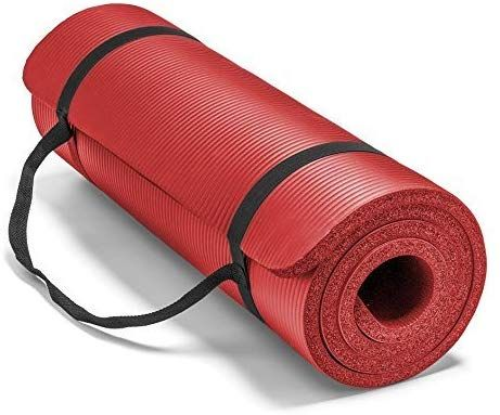 Spoga Premium 1 2 Inch Extra Thick High Density Exercise Yoga Mat With Carrying Strap In 2020 Yoga Fitness Hard Yoga Yoga Mat