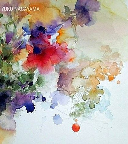 Yuko Nagayama Japon Flower Art Watercolor Flowers Flower