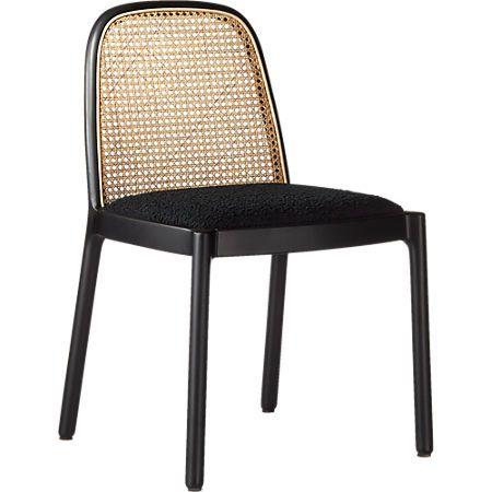 Nadia Black Cane Chair Reviews Cb2 Cane Dining Chairs Rattan Dining Chairs Cane Chair