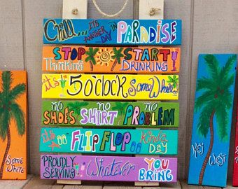 Tropical Welcome Sign Hanging Sign For Outdoors Personalized Cottage Sign Customized Beach House Sign Pool Rules Sign Bar Rules Sign Beach Signs Pool Signs Beach House Signs