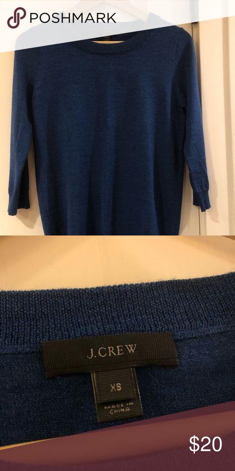 J. Crew Marino wool Like new!🌟Heather teal sweater, size XS. Perfect for fall🍂🍁 J. Crew Sweaters Crew & Scoop Necks