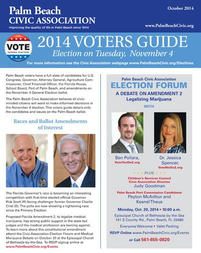 Civic Association  Primary Voters Guide Published  Palm Beach