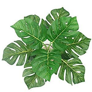 Artificial Palm Leaves Plants Leaves Tropical Greenery Bush