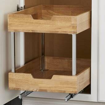 Rev A Shelf Polymer D Shape 2 Shelf Pull Out Pantry Wayfair In 2020 Pull Out Pantry Pull Out Drawers Slide Out Shelves