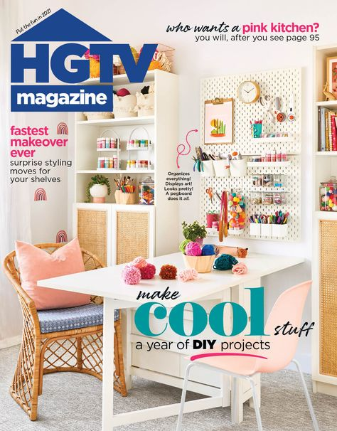 Let's get crafty! You'll find a year's worth of awesome DIY projects in the Jan/Feb issue of HGTV Magazine. Visit HGTV.com to steal this cover look.