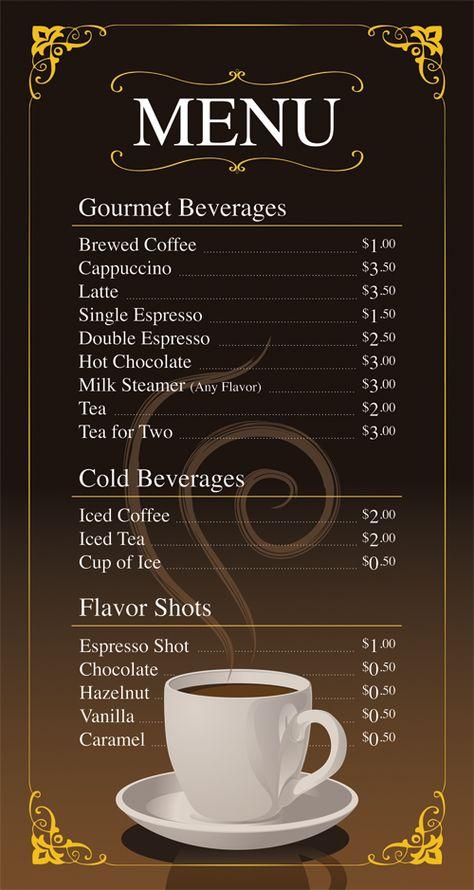 Coffee Shop Menu Ideas Coffee shop menu Ideas Menu Coffee shop