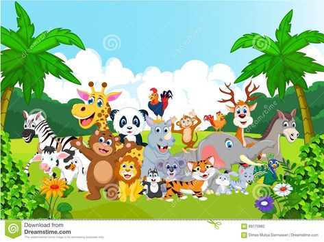 Image Result For All Animals In Forest Cartoon Animals In The