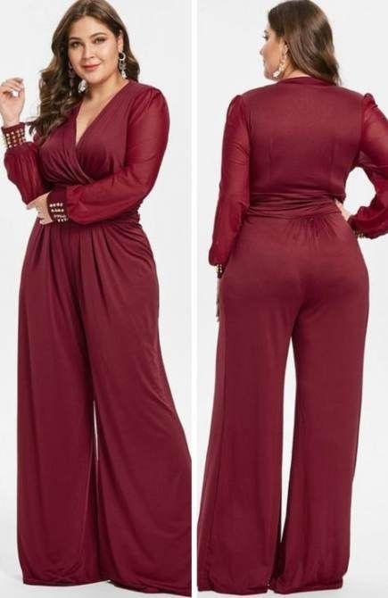 20+ Plus size red jumpsuit ideas info