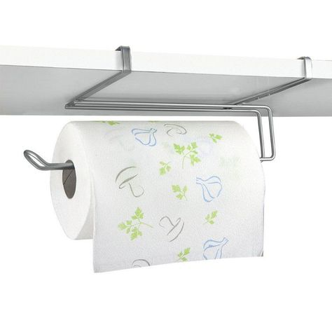 719 Stainless Steel Kitchen Paper Towel Holder Rack Under