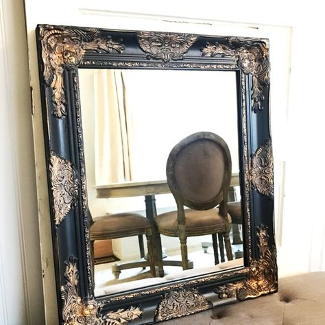Black Bathroom Mirror Black And Gold Mirror Shabby Chic Vanity