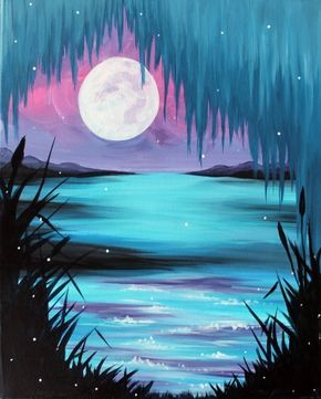 11 Jaw Dropping Decorating Techniques You Ve Never Seen Before Night Painting Acrylic Painting Tutorials Beginner Painting