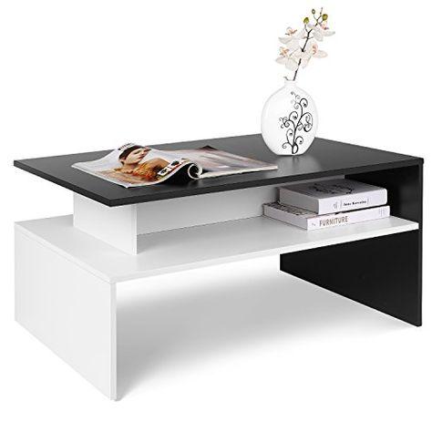 Homfa Table Basse De Salon Design Table De Salon En Bois Moderne