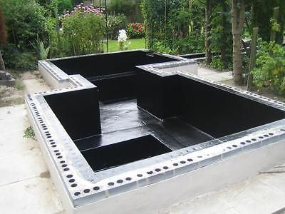 Grp Fibreglass Pond Kits Dark Grey Incl Tools 5m2 100m2 Pond Kits Ponds Backyard Pond