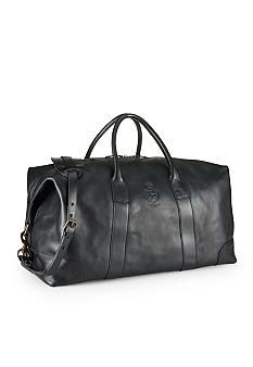 A Polo Ralph Lauren Leather Duffel Bag is a good gift for the jet-setter in your life #mensfashion #Belk #travel