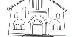 Mewarnai Gambar Gereja In 2020 Coloring Pages Printable